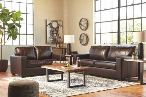 Morelos Chocolate Sofa/Couch, Loveseat, Brosward Cocktail Table, 2 End Tables & Sofa/Couch Table