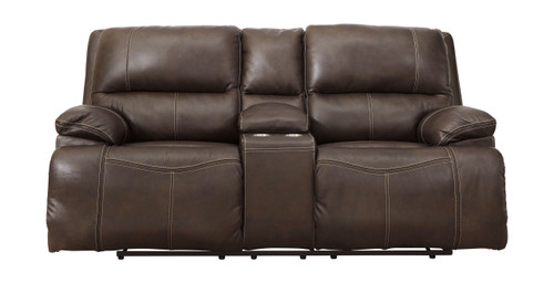 Ricmen Walnut Power Reclining Loveseat/ADJ Headrest