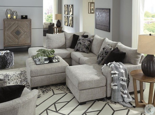 Megginson Storm LAF Corner Chaise, RAF Sofa Chaise Sectional, Round Swivel Chair & Ottoman With Storage