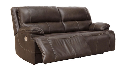 Ricmen Walnut 2 Seat Power Reclining Sofa ADJ HDREST