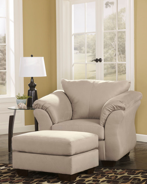 Darcy Stone Chair with Ottoman