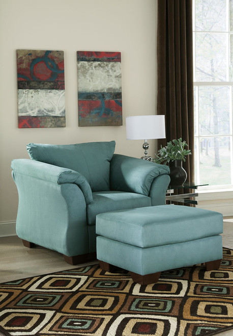 Darcy Sky Chair with Ottoman