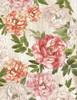 Cotton Print Yarmulkes Bloomed Peonies - MULTI