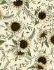 Cotton Print Yarmulkes Sunflowers - NATURAL