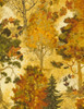 Cotton Print Yarmulkes Fall Trees - CREAM