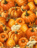 Cotton Print Yarmulkes Packed Pumpkins - PUMPKIN
