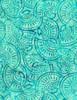Cotton Print Yarmulkes Seashell Batik - SCUBA