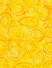 Cotton Print Yarmulkes Dotty Spiral Batik - CANARY