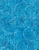 Cotton Print Yarmulkes Seashell Batik - TURQ