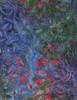 Cotton Print Yarmulkes Foliage Batik - MARINE