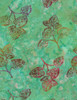 Cotton Print Yarmulkes Branches Batik - MERMAID