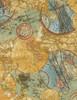 Cotton Print Yarmulkes Atlas - GLOBE
