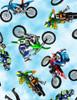 Cotton Print Yarmulkes Motorbikes - MULTI