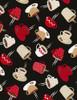 Cotton Print Yarmulkes Tossed Coffee Mugs - BLACK