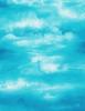 Cotton Print Yarmulkes Watercolor Sky - TURQ