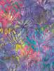 Cotton Print Yarmulkes Hibiscus Batik - PASSION