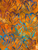 Cotton Print Yarmulkes Hibiscus Batik - SUNSET