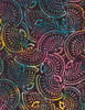 Cotton Print Yarmulkes Seashell Batik - CARNIVAL