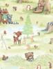 Cotton Print Yarmulkes Forest Friends Activities - PISTACHIO