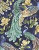 Cotton Print Yarmulkes Peacocks - PACIFIC