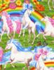 Cotton Print Yarmulkes Unicorns and Rainbows Knit - MULTI