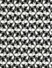 Cotton Print Yarmulkes Intertwined Cats - BLACK