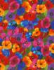 Cotton Print Yarmulkes Packed Flowers Awaken - MULTI