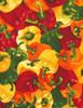 Cotton Print Yarmulkes Peppers - MULTI