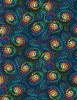 Cotton Print Yarmulkes Dot Swirls - MULTI
