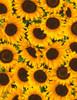 Cotton Print Yarmulkes Packed Sunflowers - SUNFLOWER