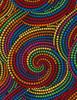 "Cotton Print Yarmulkes 108"" Dot Swirls - MULTI"