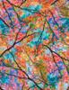 Cotton Print Yarmulkes Spring Trees - BRIGHT