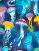 Cotton Print Yarmulkes Jellyfish - AQUA