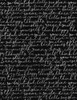 Cotton Print Yarmulkes Script - BLACK