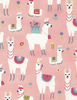 Cotton Print Yarmulkes Alpaca - PINK