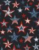 Cotton Print Yarmulkes Americana Stars - INK
