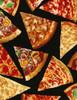 Cotton Print Yarmulkes Pizza - PIZZA