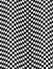 Cotton Print Yarmulkes Black & White Checkered Flag - FLAG