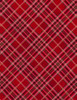 Cotton Print Yarmulkes Bias Plaid - RED