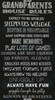 "Cotton Print Yarmulkes 24"" Grandparents Rules Panel - BLACK"