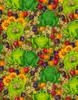 Cotton Print Yarmulkes Frogs by Debi Hron - GREEN