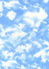 Cotton Print Yarmulkes Clouds by Gail Cadden - BLUE