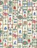 Cotton Print Yarmulkes Mahjong Tiles - MAHJONG