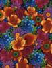 Cotton Print Yarmulkes Mixed Floral - MULTI