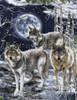 Cotton Print Yarmulkes Howl at the Moon - WOLF