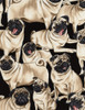 Cotton Print Yarmulkes Pugs by George McCartney - PUG