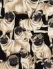 Cotton Print Yarmulkes Pugs by George McCartney - PUG