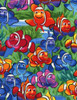 Cotton Print Yarmulkes Clownfish by Michael Searle - MULTI