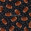 Cotton Print Yarmulkes Footballs - Black