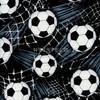 Cotton Print Yarmulkes Soccer - Black